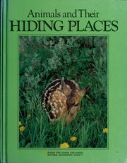 Cover of: Animals and their hiding places | Jane R. McCauley