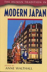 Cover of: The Human Tradition in Modern Japan (The Human Tradition Around the World, No. 3)