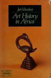Cover of: Art history in Africa | Jan Vansina