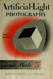Cover of: Artificial-light photography | Ansel Adams
