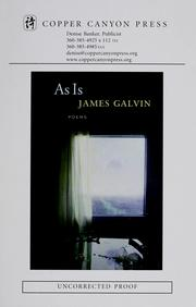 Cover of: As is