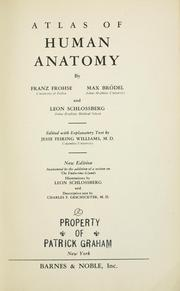 Cover of: Atlas of human anatomy |