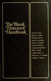 Cover of: The Bank director