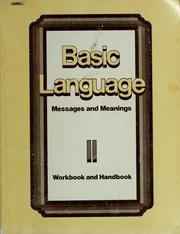 Cover of: Basic language messages and meanings |
