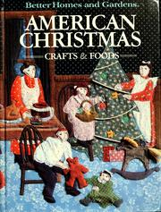 Cover of: American Christmas crafts and foods. |