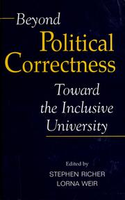 Cover of: Beyond political correctness |
