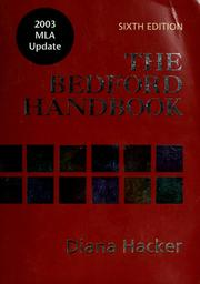 Cover of: The Bedford handbook | Diana Hacker