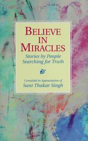 Cover of: Believe in miracles |