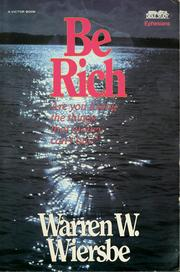 Cover of: Be rich | Warren W. Wiersbe
