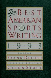 Cover of: The Best American sports writing, 1993 |