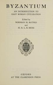 Cover of: Byzantium by Norman Hepburn Baynes