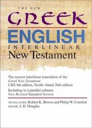 Cover of: The New Greek-English interlinear New Testament |