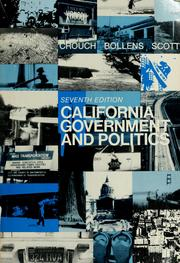 Cover of: California government and politics | Winston Winford Crouch