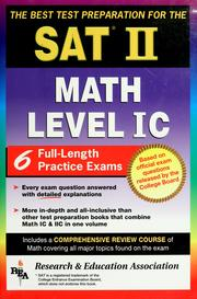 Cover of: The best test preparation for the SAT II, subject test: math level IC.