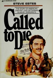 Cover of: Called to die | Steve Estes