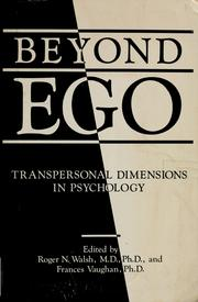 Cover of: Beyond ego | Roger N. Walsh