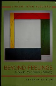 Cover of: Beyond feelings | Vincent Ryan Ruggiero
