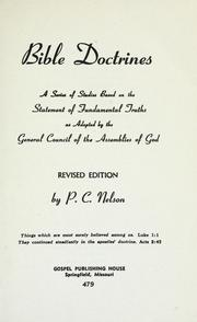 Cover of: Bible doctrines | Peter Christopher Nelson