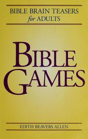 Cover of: Bible games | Edith Beavers Allen