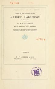 Cover of: Journal and memoirs