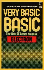 Very basic BASIC by Derek Ellershaw, Peter Schofield