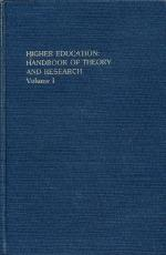 Cover of: Higher Education: Handbook of Theory and Research/Volume 1 |