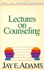Cover of: Lectures on counseling |