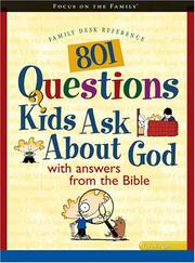 Cover of: 801 Questions Kids Ask about God (Heritage Builders) | Anisa Baker