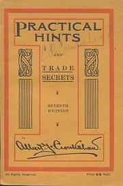 Cover of: Practical hints and trade secrets