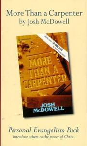 Cover of: More Than a Carpenter (Personal Evangelism 6-Pack)