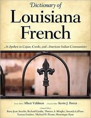 Cover of: Dictionary of Louisiana French |