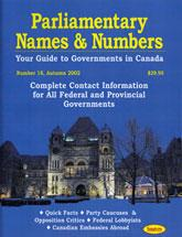 Cover of: Parliamentary Names and Numbers  18 |