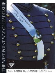Cover of: West Point Way of Leadership | Larry Donnithorne