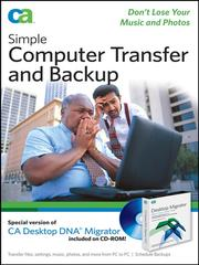 Cover of: Simple Computer Transfer and Backup | CA