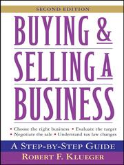 Cover of: Buying and Selling a Business | Robert F. Klueger