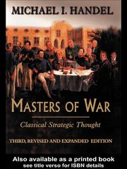 Cover of: Masters of War | Michael Handel