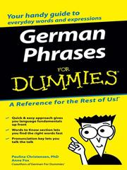 Cover of: German Phrases For Dummies | Paulina Christensen