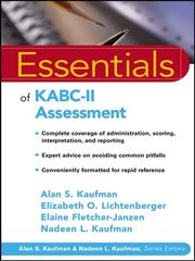 Cover of: Essentials of KABC-II Assessment | Elizabeth O. Lichtenberger