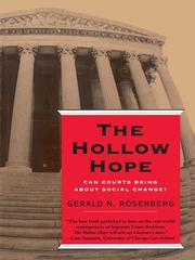 Cover of: The Hollow Hope | Gerald N. Rosenberg