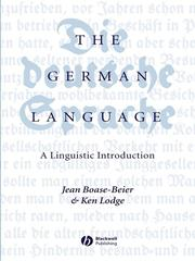 Cover of: The German Language | Jean Boase-Beier