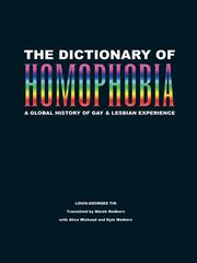Cover of: The Dictionary of Homophobia | Louis-Georges Tin