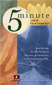 Cover of: 5 Minute New Testament | Stephen Arterburn