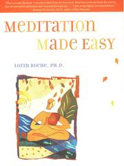 Cover of: Meditation Made Easy | Lorin Roche