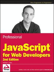Cover of: Professional JavaScript for Web Developers | Nicholas C. Zakas