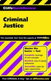 Cover of: CliffsQuickReview Criminal Justice | Dennis Hoffman