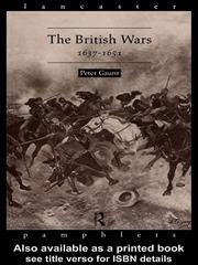 Cover of: The British Wars, 1637-1651 | Peter Gaunt