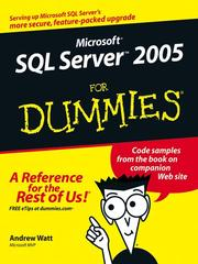 Cover of: Microsoft SQL Server 2005 For Dummies | Andrew Watt