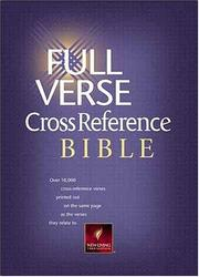 Cover of: Full verse cross-reference Bible. |