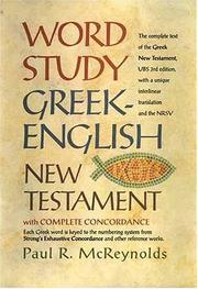 Cover of: Word Study Greek-English New Testament | Paul McReynolds