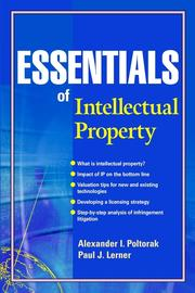 Cover of: Essentials of Intellectual Property | Alexander Poltorak